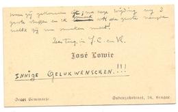 Visitekaartje - Carte Visite - José Lowie - Brugge - Cartes De Visite