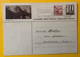 9512 - Entier Postal Illustration Rosenlaui Basel 23.09.1946 Pour La France - Entiers Postaux