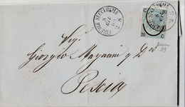Lettera Da Firenze A Pescia Affrancata Con 20c. Su 15c. Sassone N.23 - 1861-78 Victor Emmanuel II.