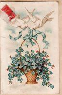 Fant009 Panier Myosotis Colombes Blanches  1910s  A&M N°558 - Autres