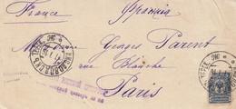 LETTRE RUSSIE. DEVANT. FRONT COVER RUSSIA. 7 7 1916. KISLOVODSK POUR PARIS. CENSURE RUSSE - 1857-1916 Empire
