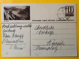 9515 - Entier Postal Illustration Stoos Blumenstein 29.01.1947 - Entiers Postaux