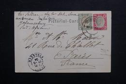 AFRIQUE DU SUD - Affranchissement Plaisant De Johannesburg Sur Carte Postale En 1904 Pour Paris - L 48453 - Transvaal (1870-1909)