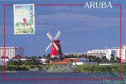 D38662 CARTE MAXIMUM CARD RR 1992 ARUBA - RED MILL CP ORIGINAL - Molinos