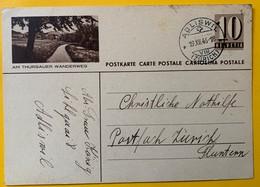 9516 - Entier Postal Illustration Am Thurgauer Wanderweg Adliswil 19.12.1946 - Interi Postali