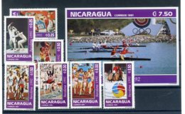 A23536)Olympia 92: Nicaragua 3150 - 3156** + Block** - Sommer 1992: Barcelone