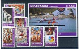 A23536)Olympia 92: Nicaragua 3150 - 3156** + Block** - Ete 1992: Barcelone