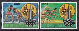 PAIRE NEUVE DE REP. CENTRAFRICAINE - JEUX OLYMPIQUES DE MOSCOU 1980 : BOXE ET COURSE A PIED N° Y&T PA 224/225 - Summer 1980: Moscow