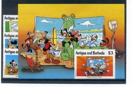A23690)Disney: Antigua 1394 - 1395** + 1398 - 1399** + Bl 183** - Disney