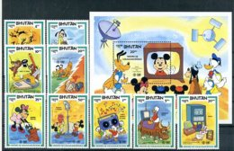 A23695)Disney: Bhutan 829 - 834** + Bl 101** - Disney