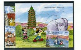 A23697)Disney: Bhutan 1380 - 1382** + 1393** + Bl 298** - Disney