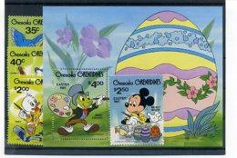 A23720)Disney: Grenada-Grenadinen 437 - 440** + Bl 54** - Disney