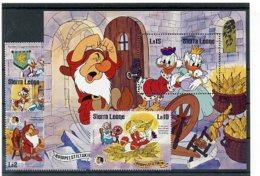 A23742)Disney: Sierra Leone 859 - 862** + Bl 40** - Disney