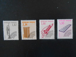 FRANCE  YT PR228/231 INSTRUMENTS DE MUSIQUE (VI)** - 1989-....