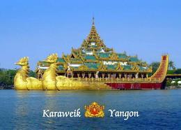 Myanmar Yangon Karaweik Palace Burma New Postcard - Myanmar (Burma)