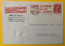 9522 -  Entier Postal Illustration Bern Zurich 29.01.1927 Pour La France - Interi Postali