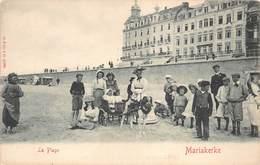 Oostende Mariakerke  La Plage  Het Strand Kinderen In Een Hondenkar Kar Getrokken Door Hond Op Het Strand        M 1508 - Oostende