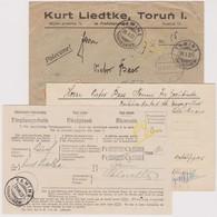 GR   TAMINS / SUPER INCOMMING BRIEF AUS POLEN MIT EMPFANGSSCHEIN UND INHALT - Briefe U. Dokumente