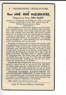DP 8627 - AIME MAELBRANCKE - VLAMERTINGE 1870 + 1954 - Andachtsbilder