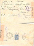 LETTRE RUSSIE. COVER RUSSIA.  20 6 1916. PETROGRAD POUR UN SOLDAT CENTRE D'INSTRUCTION DE VERMONTON. CENSURE RUSSE - Briefe U. Dokumente