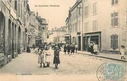 CPA 54 Meurthe Et Moselle Lunéville La Grande Rue - Luneville