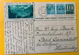9527  Entier Postal Illustration Les Diablerets Genève 03.08.1936 - Interi Postali