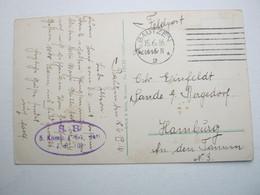1916 , BAUTZEN  , Klarer Stempel Auf Feldpostkarte Mit Truppensiegel - Duitsland
