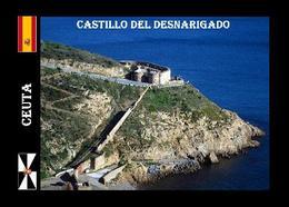 Ceuta City North Africa Desnarigado Castle Aerial View New Postcard - Ceuta