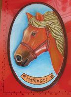 CAVALLO HORSE HAFLINGER GESSO DIPINTO - Céramiques