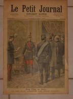Le Petit Journal. 6 Mai 1893. Coup D'état En Serbie. Emeutes En Belgique. La Fusillade De Mons. - Livres, BD, Revues