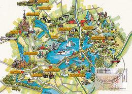 D38683 CARTE MAXIMUM CARD RR FD 2012 NETHERLANDS - MAP OF THE PROVINCE OVERIJSSEL CITY OF GIETHOORN CP ORIGINAL - Géographie