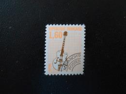 FRANCE  YT PR213A INSTRUMENTS DE MUSIQUE (IV) Guitare électrique** Dentelés 12 - Préoblitérés