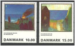 Denmark  1995  Painting (VIII): Jens Søndergaard And Nils Lergaard  Mi 1108-1109 MNH(**) - Danimarca