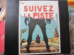 AFFICHE SNCF - Non Signée  - SUIVEZ LA PISTE - LOCOMOTIVE - INDIEN -  Format : 40 X 30 Cm - Plakate