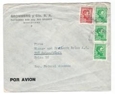 COVER CORREO URUGUAY - POR AVION - MONTEVIDEO - ERLAU - ALEMANIA. - Uruguay