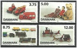 Denmark  1995  Danish Toys: TEKNO Toy Cars, China Dolls, Railway, Train, Horse-drawn Vehicles Mi 1112-1115 MNH(**) - Danimarca