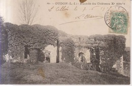 Oudon Ruines Du Chateau X Siecle  1907 - Oudon