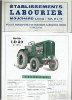 TRACTEUR LABOURIER DIESEL LD 20 ET LD 50 CARACTERISTIQUES TECHNIQUES USINE LABOURIER A MOUCHARD JURA - Tractors