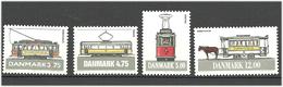Denmark  1994  Trams, København, Århus, Odense, København  Mi  1080-1083 MNH(**) - Danimarca