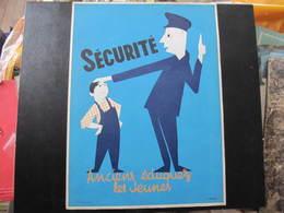 AFFICHE SNCF - Non Signée  - SECURITE - ANCIENS EDUQUEZ LES JEUNES -  Format : 40 X 30 Cm - Affiches