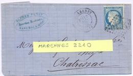 CHARENTE-MARITIME : LSC MARENNES GC 2210 TàD 12 DEC 75 - CÉRÈS 25 C. YT 60 - Storia Postale