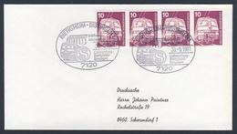 Deutschland Germany 1981 Brief Cover - S-Bahn Eröfnnungsveranstaltung Ludwigsburg-Bietigheim-Bissingen/ Suburban Railway - Trains