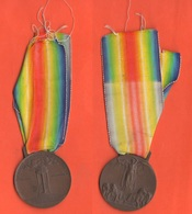 Medaglia Interalleata Italia Interallied Interalliée Medal 1915 - 1918 Orsolini & Johnson - Italie