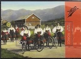 2015  Norwegen Mi. Bl 47**MNH   Mädchen In Tracht Mit Fahrrädern Auf Dem Weg Zur Kirche, Setesdal - Nuevos