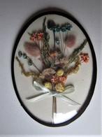 Petit Cadre Avec Fleurs Sèchées - 16 Cm. - C 16 - Popular Art