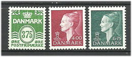 Denmark  1999 Wave Lines, Queen Margrethe Mi 1204-1206 MNH(**) - Danimarca