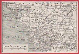 Carte De La Guinée Française. Larousse 1931. - Documents Historiques