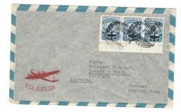 COVER CORREO URUGUAY - VIA AEREA - MONTEVIDEO - GERMANY BRITISH ZONE. - Uruguay