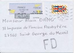 """France - Les Arts Du Cirque YT A1487 Obl. Cachet Rond Manuel Et MTI-GF + """"Fausse Direction"""" Sur Lettre - France"""