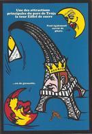 CPM Sucre Satirique Caricature Algérie Jacques LEBAUDY Empereur Du Sahara Sugar Non Circulé Tour Eiffel - Satirical